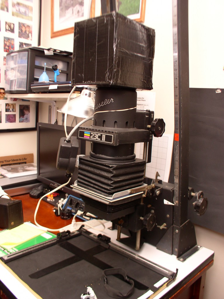 Mounted up on the enlarger.
